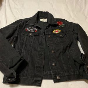 Black Jeans Jacket Size Small